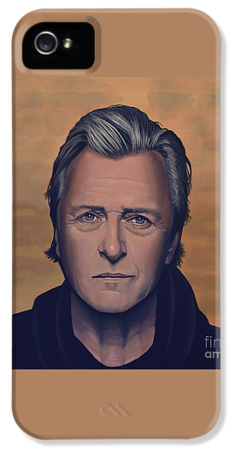 Rutger Hauer IPhone 5 / 5s Case featuring the painting Rutger Hauer by Paul Meijering