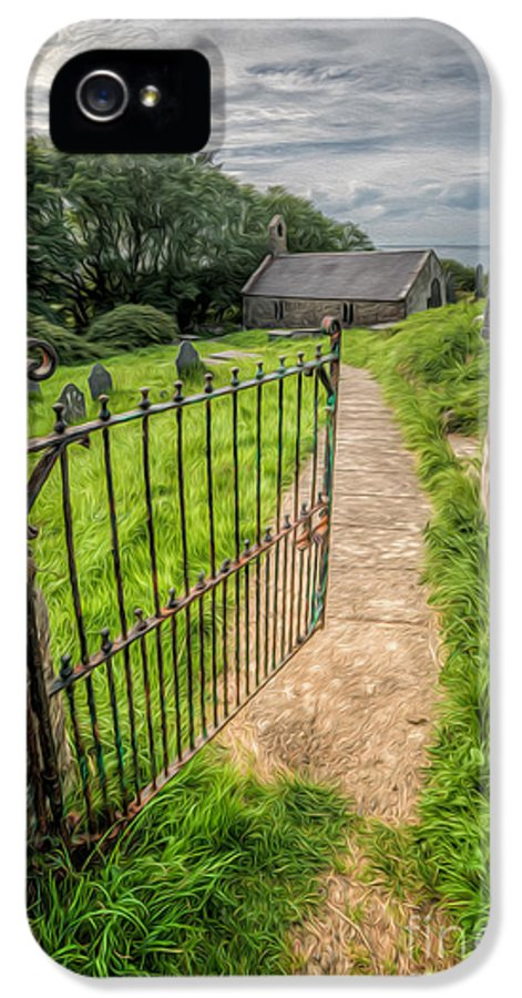 12th Century IPhone 5 / 5s Case featuring the photograph Sacred Path by Adrian Evans