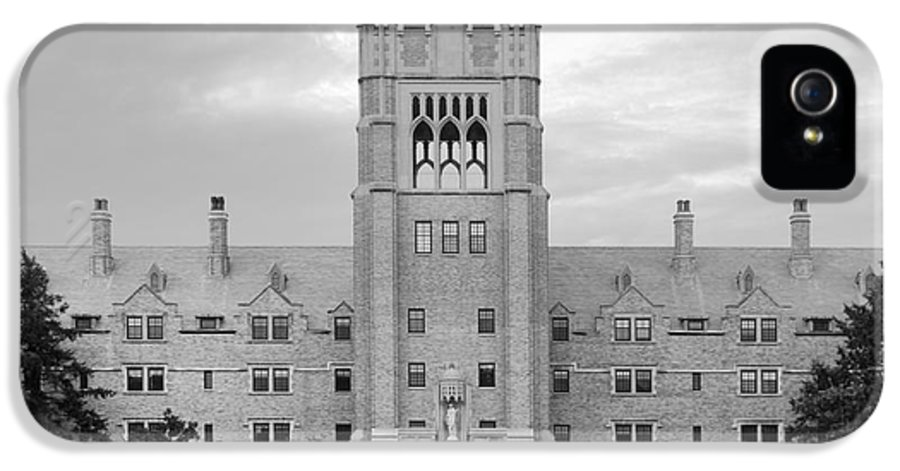 Belles IPhone 5 / 5s Case featuring the photograph Saint Mary's College Le Mans Hall by University Icons