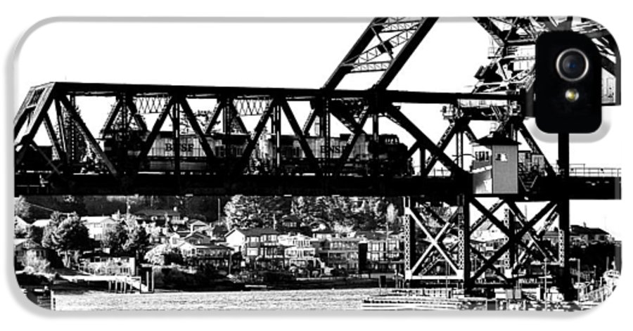 Salmon IPhone 5 / 5s Case featuring the photograph Salmon Bay Bridge by Benjamin Yeager