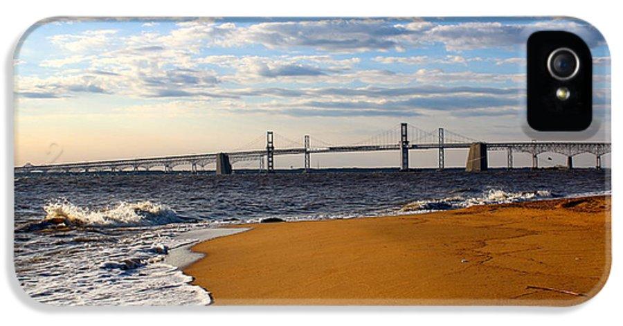 Bay Bridge IPhone 5 / 5s Case featuring the photograph Sandy Bay Bridge by Jennifer Casey