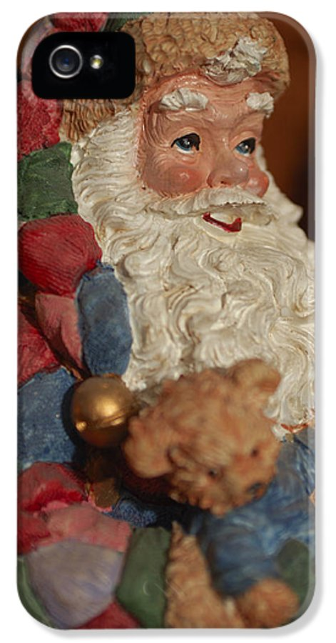 Santa Claus IPhone 5 / 5s Case featuring the photograph Santa Claus - Antique Ornament - 03 by Jill Reger