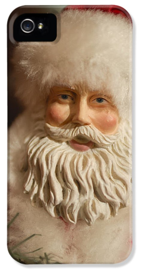 Santa Claus IPhone 5 / 5s Case featuring the photograph Santa Claus - Antique Ornament - 07 by Jill Reger