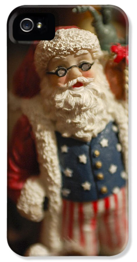 Santa Claus IPhone 5 / 5s Case featuring the photograph Santa Claus - Antique Ornament - 15 by Jill Reger