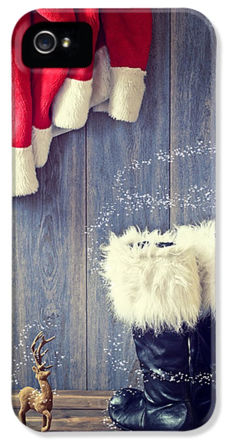 Santa IPhone 5 / 5s Case featuring the photograph Santa's Boots by Amanda And Christopher Elwell