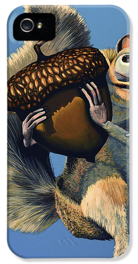Scrat IPhone 5 / 5s Case featuring the painting Scrat Of Ice Age by Paul Meijering