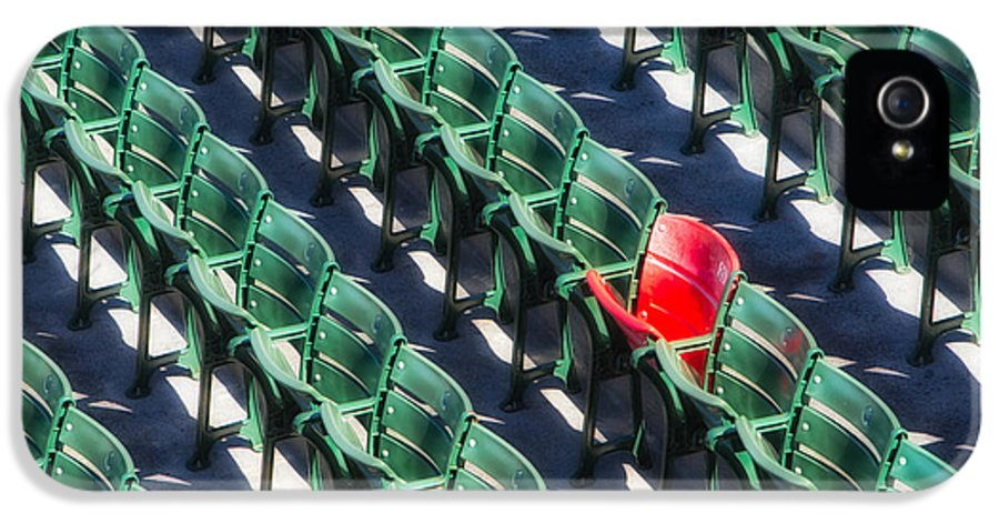 Fenway Park IPhone 5 / 5s Case featuring the photograph Seat No. 21 by Jerry Fornarotto