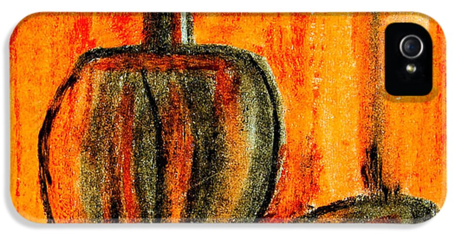 Abstract IPhone 5 / 5s Case featuring the painting Seated Man by Nirdesha Munasinghe