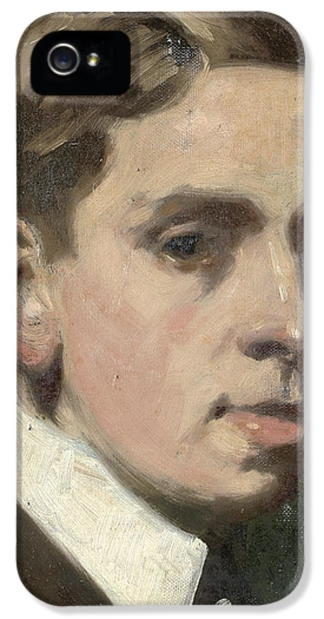 Self Portrait IPhone 5 / 5s Case featuring the painting Self Portrait by Francis Campbell Boileau Cadell