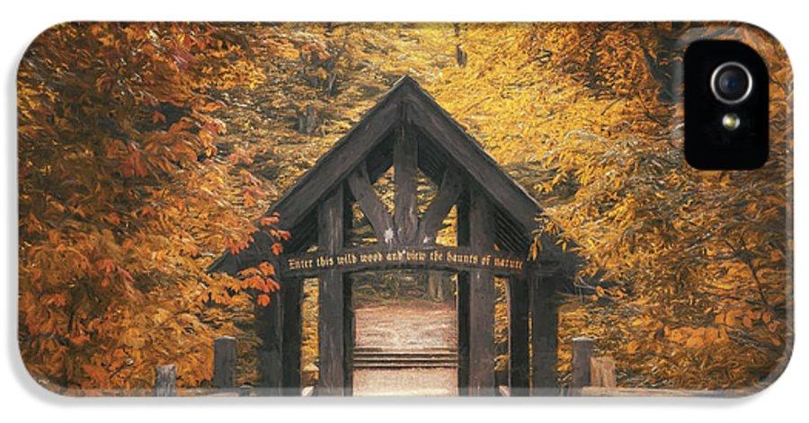 Forest IPhone 5 / 5s Case featuring the photograph Seven Bridges Trail Head by Scott Norris
