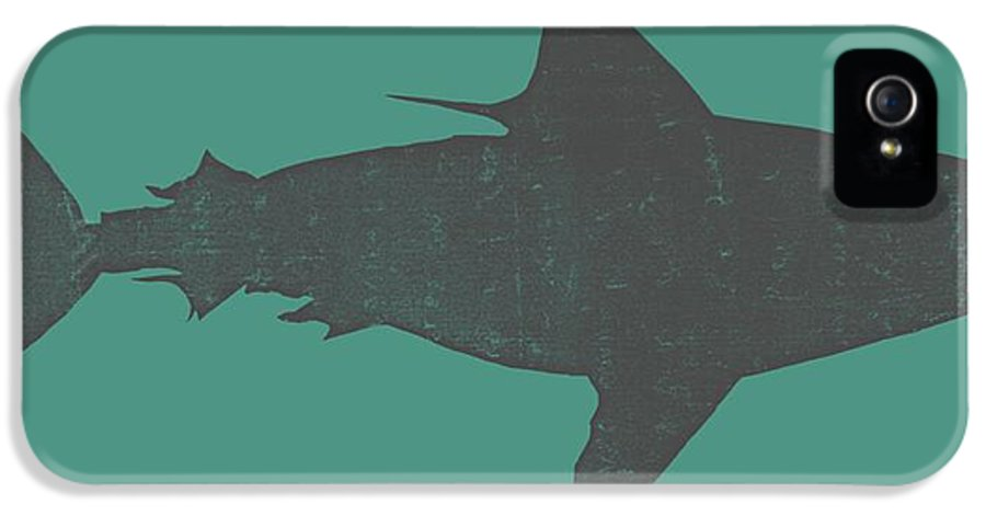 Shark IPhone 5 / 5s Case featuring the drawing Shark Ll by Michelle Calkins