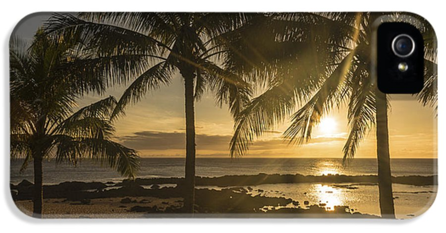 Sharks Cove Sunset North Shore Oahu Hawaii Hi Seascape IPhone 5 / 5s Case featuring the photograph Sharks Cove Sunset 2 - Oahu Hawaii by Brian Harig