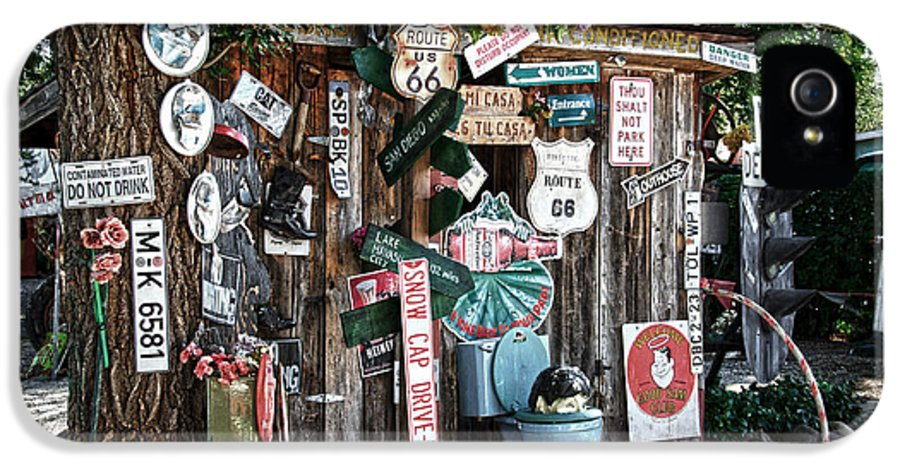 Shed IPhone 5 / 5s Case featuring the photograph Shed Toilet Bowls And Plaques In Seligman by RicardMN Photography