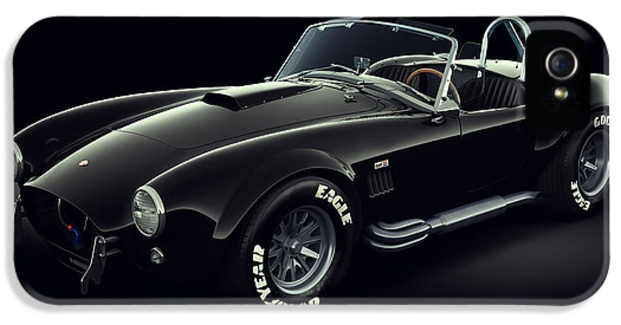 Transportation IPhone 5 / 5s Case featuring the digital art Shelby Cobra 427 - Ghost by Marc Orphanos