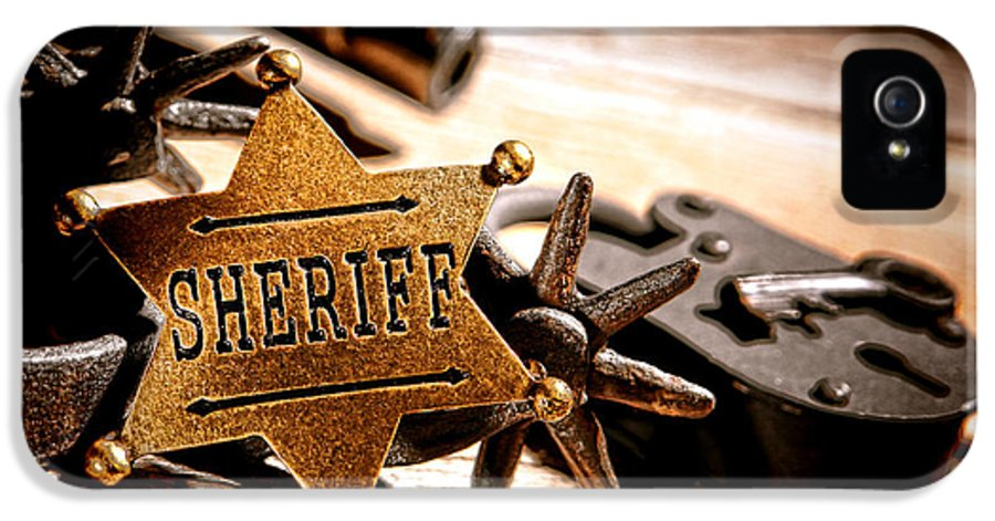 Sheriff IPhone 5 / 5s Case featuring the photograph Sheriff Tools by Olivier Le Queinec