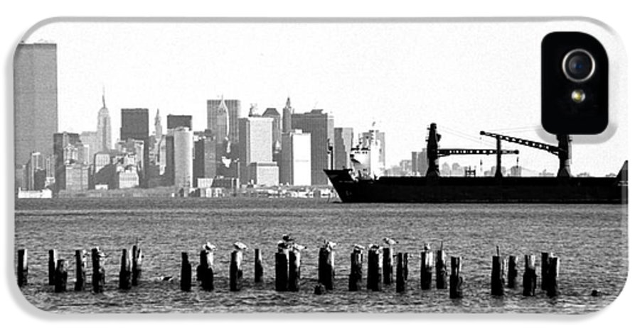 Ship In The Harbor 1990s IPhone 5 / 5s Case featuring the photograph Ship In The Harbor 1990s by John Rizzuto
