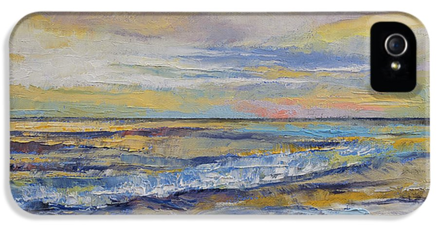 Shore IPhone 5 / 5s Case featuring the painting Shores Of Heaven by Michael Creese