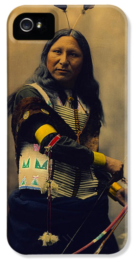Shout At IPhone 5 / 5s Case featuring the digital art Shout At Oglala Sioux by Heyn Photo