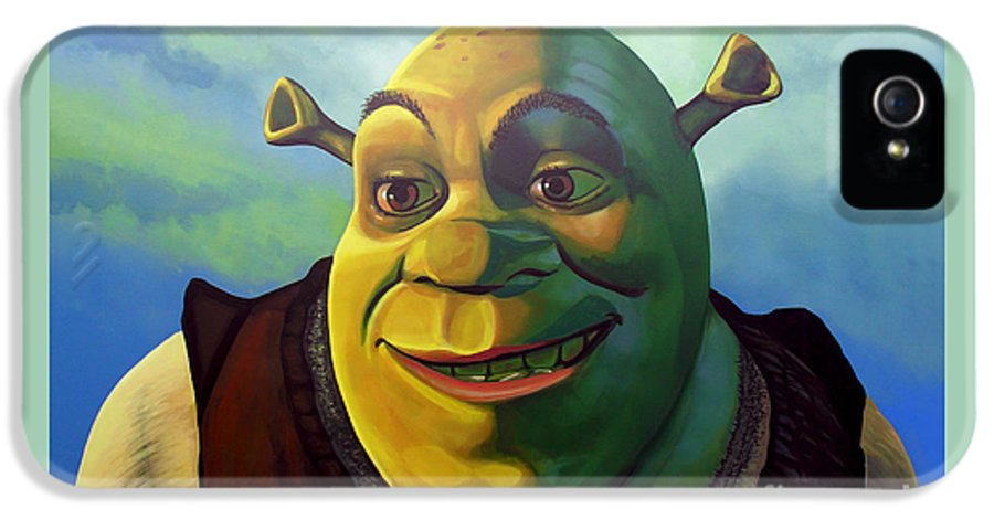 Shrek IPhone 5 / 5s Case featuring the painting Shrek by Paul Meijering