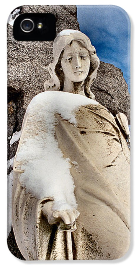 Angel IPhone 5 / 5s Case featuring the photograph Silent Winter Angel by Gothicolors Donna Snyder
