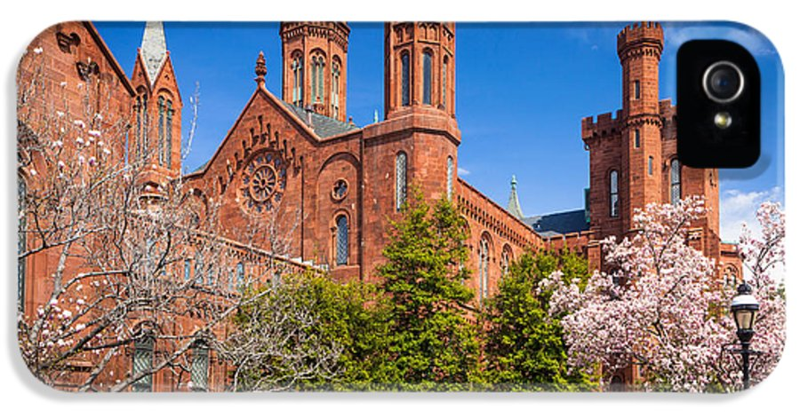 America IPhone 5 / 5s Case featuring the photograph Smithsonian Castle Wall by Inge Johnsson