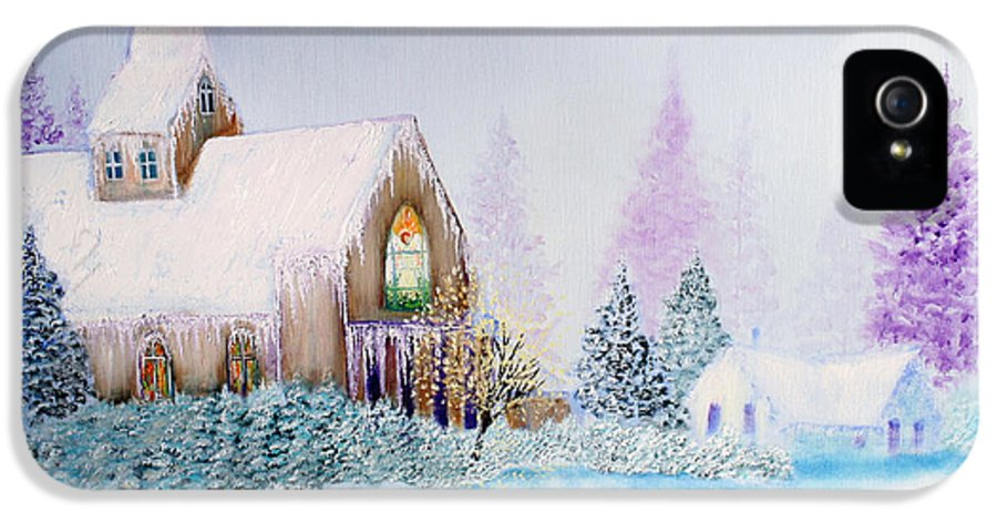 Snow IPhone 5 / 5s Case featuring the painting Snow In Florida by David Kacey