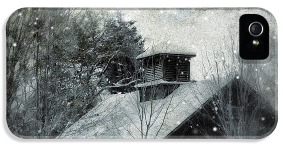 Night IPhone 5 / 5s Case featuring the photograph Snowy Night by HD Connelly