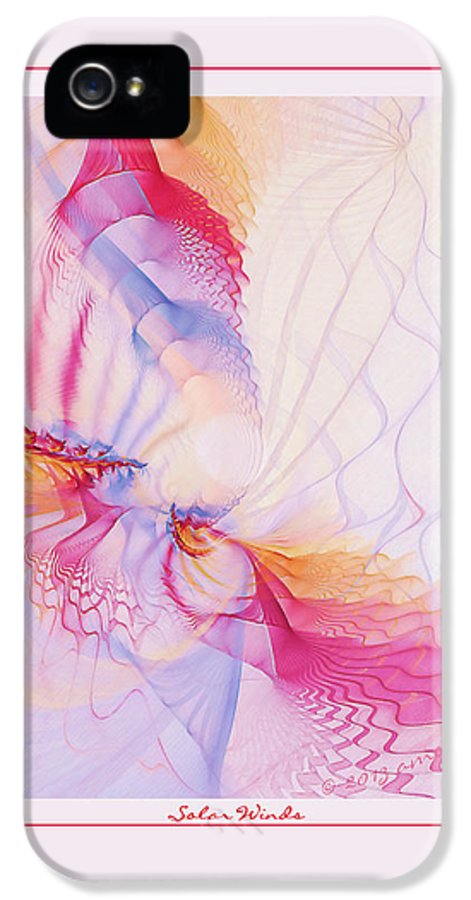 Fractal IPhone 5 / 5s Case featuring the digital art Solar Winds by Gayle Odsather