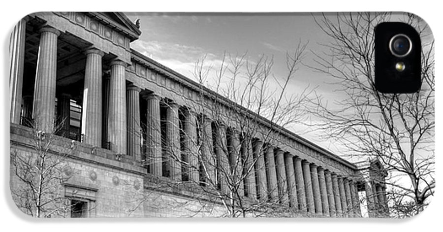 Hdr IPhone 5 / 5s Case featuring the photograph Soldier Field In Black And White by David Bearden