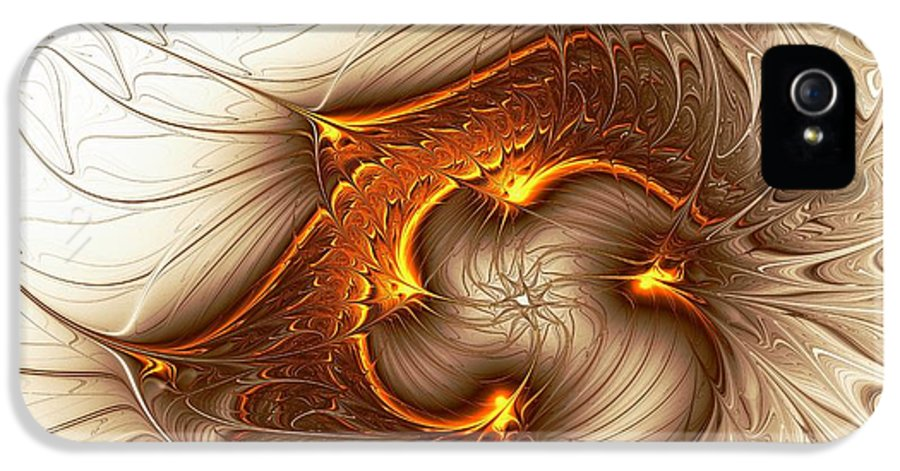 Computer IPhone 5 / 5s Case featuring the digital art Souls Of The Dragons by Anastasiya Malakhova
