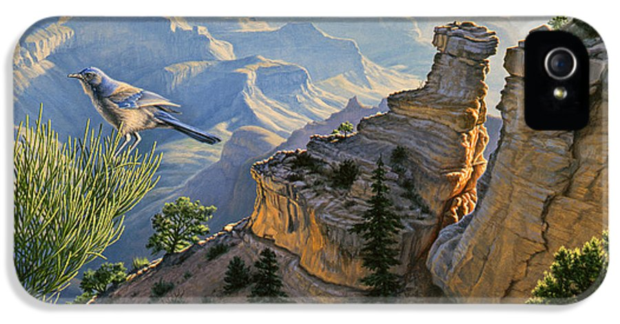 Landscape IPhone 5 / 5s Case featuring the painting South Rim Morning by Paul Krapf