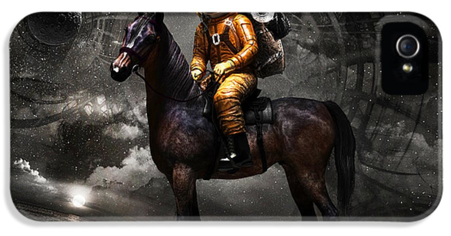 Space IPhone 5 / 5s Case featuring the digital art Space Tourist by Vitaliy Gladkiy