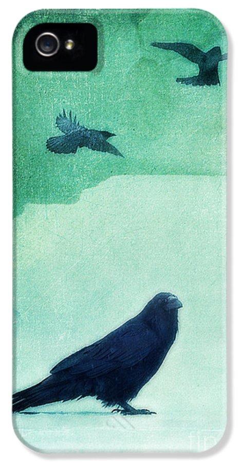 Raven IPhone 5 / 5s Case featuring the photograph Spirit Bird by Priska Wettstein