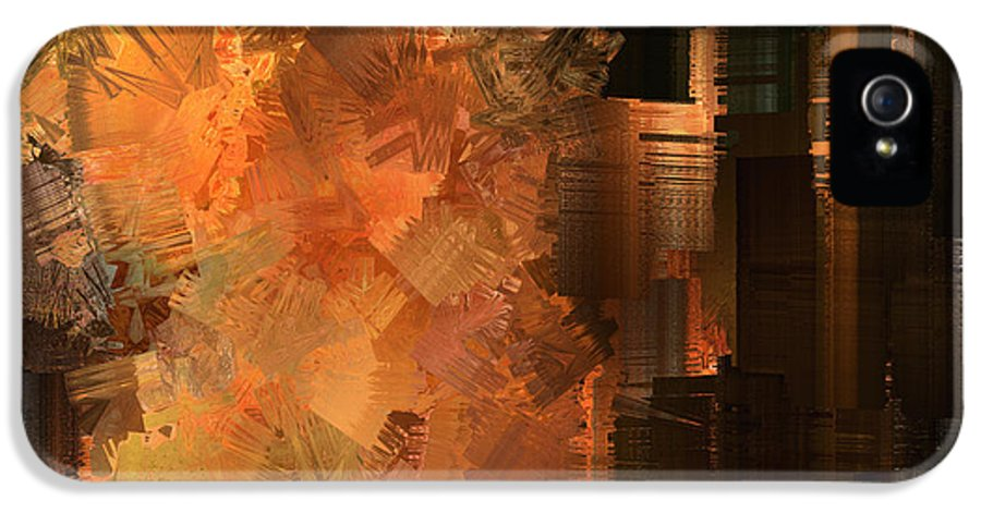Abstract IPhone 5 / 5s Case featuring the painting Spontaneous Combustion by Sydne Archambault