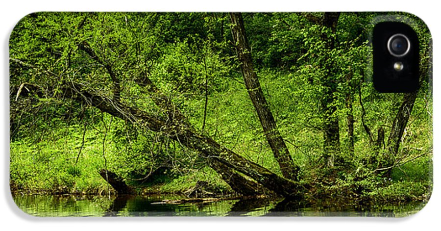 Spring IPhone 5 / 5s Case featuring the photograph Spring Along West Fork River by Thomas R Fletcher