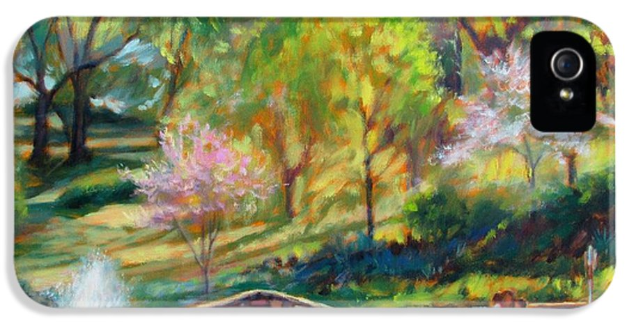 Bonnie Mason IPhone 5 / 5s Case featuring the painting Spring Morning by Bonnie Mason