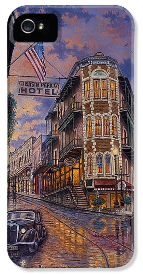 Eureka Springs IPhone 5 / 5s Case featuring the painting Spring Street Memories by Kyle Wood