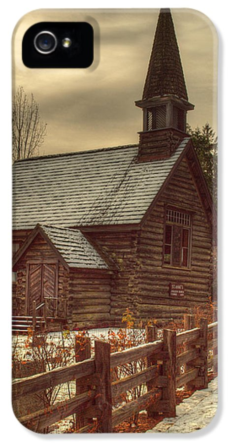 Church IPhone 5 / 5s Case featuring the photograph St Anne's Church In Winter by Randy Hall