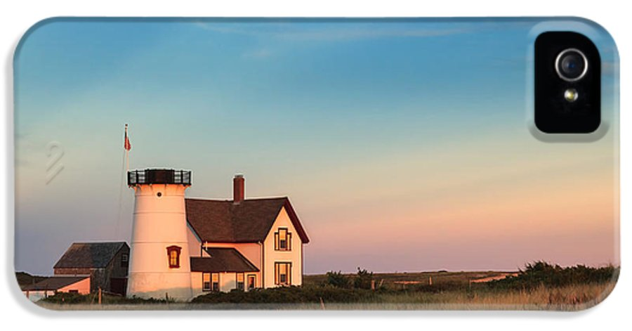 Cape Cod IPhone 5 / 5s Case featuring the photograph Stage Harbor Lighthouse by Bill Wakeley
