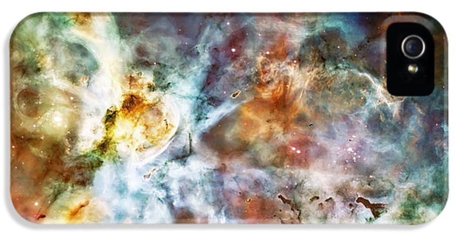Universe IPhone 5 / 5s Case featuring the photograph Star Birth In The Carina Nebula by The Vault - Jennifer Rondinelli Reilly