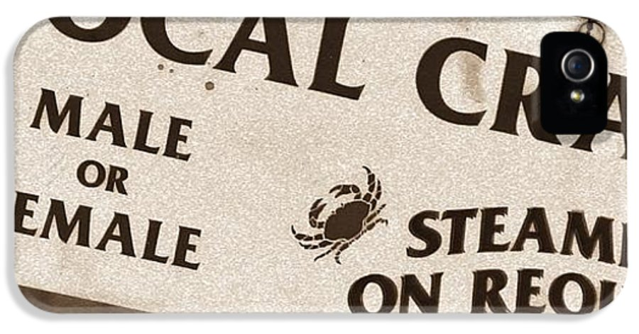 Crabs IPhone 5 / 5s Case featuring the photograph Steamed Crabs - Mike Hope by Michael Hope