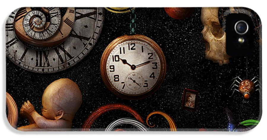 Time IPhone 5 / 5s Case featuring the photograph Steampunk - Abstract - The Beginning And End by Mike Savad