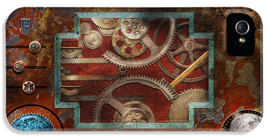 Hdr IPhone 5 / 5s Case featuring the photograph Steampunk - Pandora's Box by Mike Savad