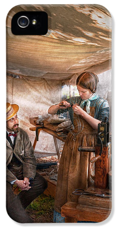 Steampunk IPhone 5 / 5s Case featuring the photograph Steampunk - The Apprentice by Mike Savad