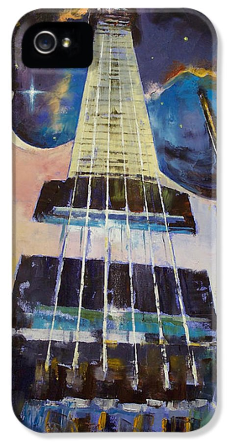 Stellar IPhone 5 / 5s Case featuring the painting Stellar Rift by Michael Creese