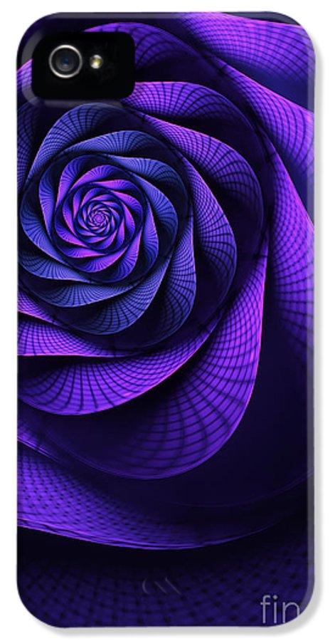 Art Nouveau Flower IPhone 5 / 5s Case featuring the digital art Stile Floreal by John Edwards