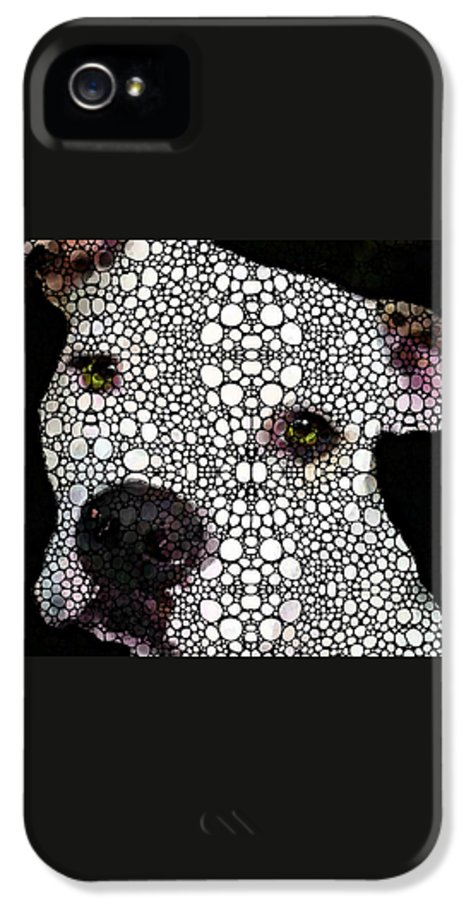 Dog IPhone 5 / 5s Case featuring the painting Stone Rock'd Dog By Sharon Cummings by Sharon Cummings