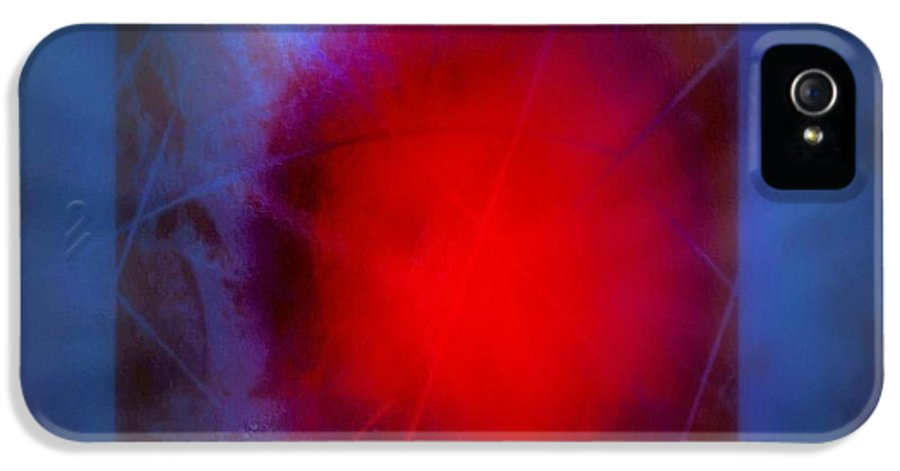 Abstract IPhone 5 / 5s Case featuring the digital art Storm 2 by John Krakora