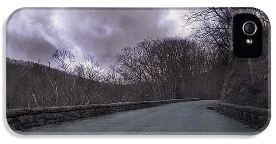 Blue IPhone 5 / 5s Case featuring the photograph Stormy Blue Ridge Parkway by Betsy Knapp