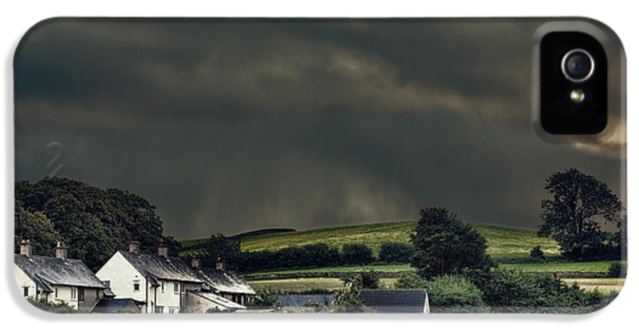 Rural IPhone 5 / 5s Case featuring the photograph Stormy Hamlet by Amanda And Christopher Elwell